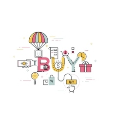 Modern concept of word buy vector image