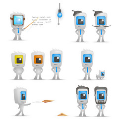 office man characters set vetor vector image