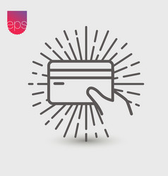 Payment simple icon emblem isolated on grey vector