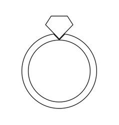 Ring black color icon vector