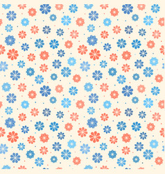 Seamless pastel floral pattern vector