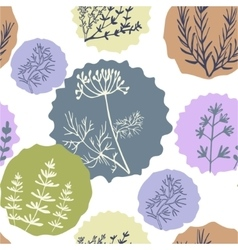 Seamless vintage pattern hand drawn herbs vector image