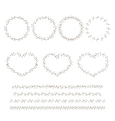 Set of hand drown decorative elements vector