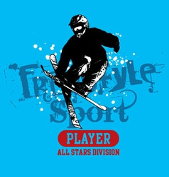 Snow Skate vector image vector image
