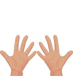 Ten from fingers vector image vector image