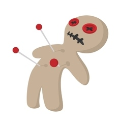 Voodoo doll cartoon icon vector