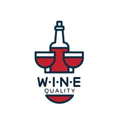 wine quality label design element for menu vector image