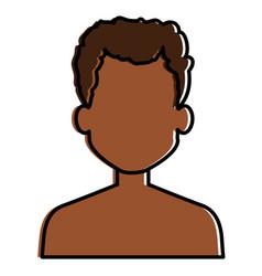 young black man shirtless avatar character vector image vector image