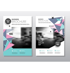 Business presentation with photo and geometric vector