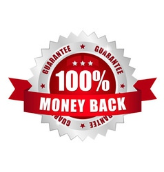 100 prozent money back button vector