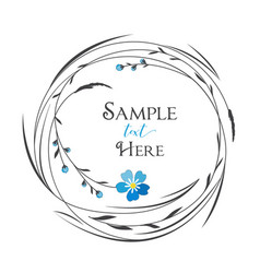 Circle with grass and flowers vector