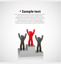 abstract people on a pedestal vector image