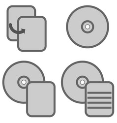 Symbol data processing grey icon vector