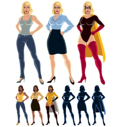 Superheroine Transformation vector image