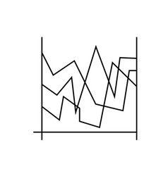 Line charts icon vector