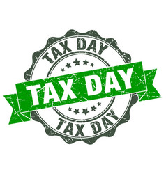 Tax day stamp sign seal vector