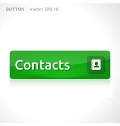 Contacts button template vector