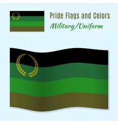 Military or uniform pride flag with correct color vector