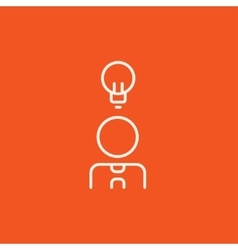 Businessman with idea line icon vector