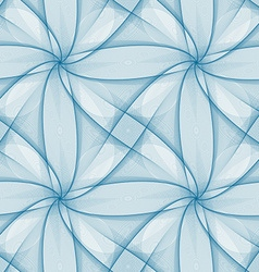 Blue seamless fractal veil pattern design vector