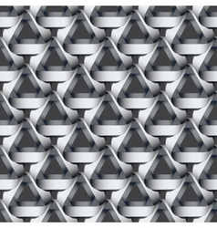 Seamless geometric pattern with grey ribbons vector image