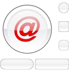 Arroba white button vector