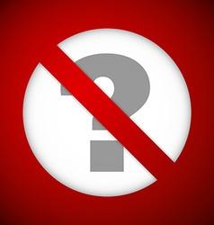 Ban sign vector image vector image