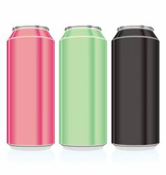 beer cans vector image vector image