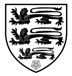 British Three Lions Crest vector image vector image