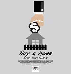 Buying home concept eps10 vector