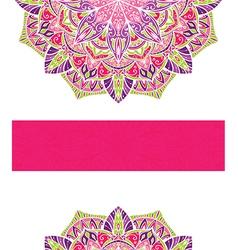 Card with mandala vector