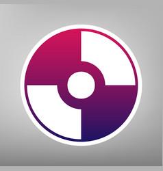 Cd or dvd sign purple gradient vector