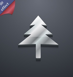 Christmas tree icon symbol 3d style trendy modern vector