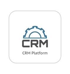 CRM Platform Icon Flat Design vector image