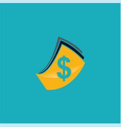 dollar cash logo vector image vector image