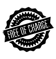 Free of charge stamp vector image vector image