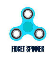 Hand spinner fidget spinner vector