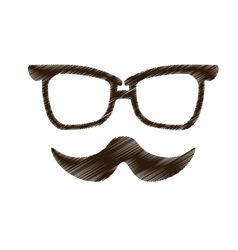 hipster man icon image vector image