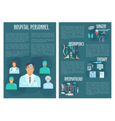 Hospital personnel medical doctors poster vector