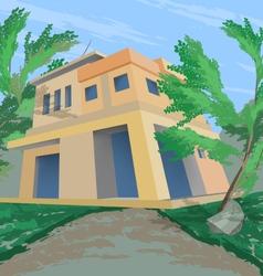 House nature scene vector