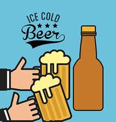 ice cold beer vector image vector image