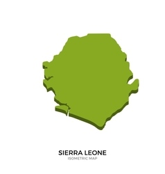 Isometric map of Sierra Leone detailed vector image