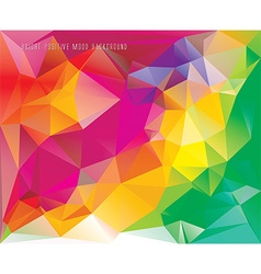 low poly card template vector image vector image
