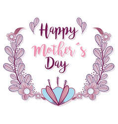Mother day with braches flowers decoration vector