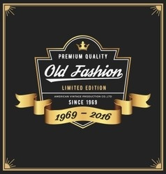 Old fashion frame and label design vector