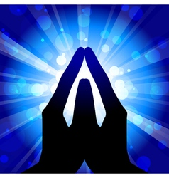 prayer vector image vector image