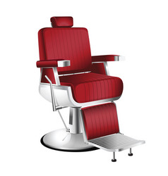 Red barber chair vector