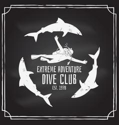 scuba diving club vector image vector image