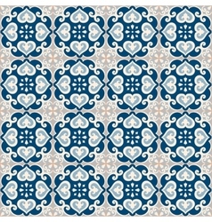 Seamless pattern of portuguese azulejos tile vector