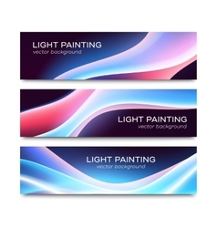 Set of horizontal banners for website or flyer vector image vector image